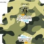 Caixa Baton Kit Militar Camuflado
