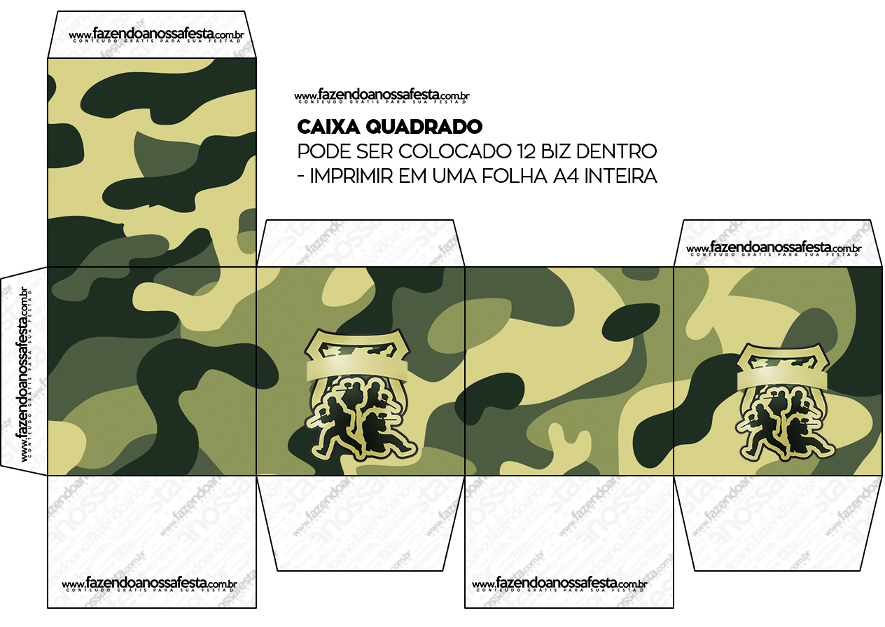 Caixa Bis Kit Militar Camuflado
