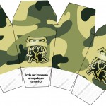 Caixa China in Box Kit Militar Camuflado