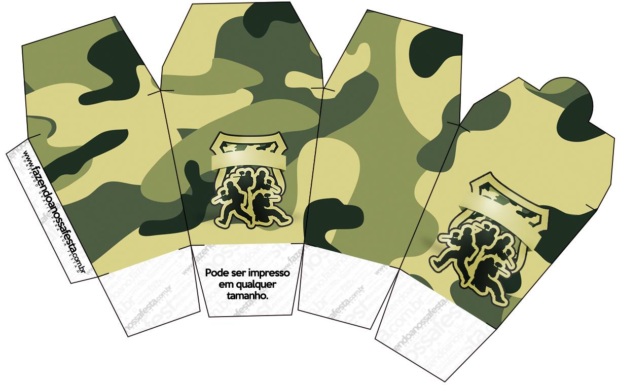 Caixa China in Box Kit Militar Camuflado