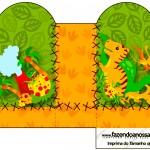 Caixa Coração Dinossauro Cute