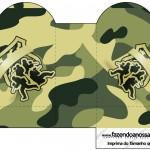 Caixa Coração Kit Militar Camuflado
