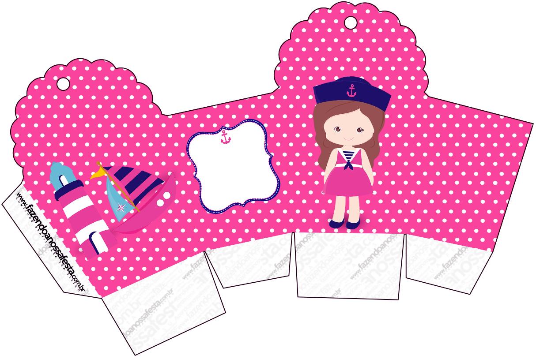 Caixa Cupcake Menina Marinheira