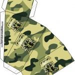 Caixa Fatia Kit Militar Camuflado