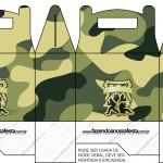 Caixa Lembrancinha Kit Militar Camuflado