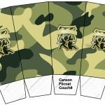 Caixa Pipoca Kit Militar Camuflado