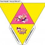 Caixa Pirâmide 2 Barbie Super Princesa Rosa