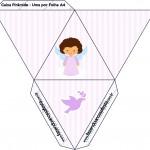 Caixa Pirâmide Batizado Anjinha Afro