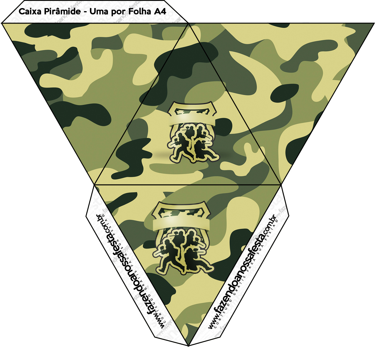Caixa Pirâmide Kit Militar Camuflado