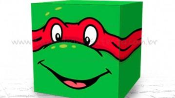 Caixa Quadrada das Tartarugas Ninjas Modelo