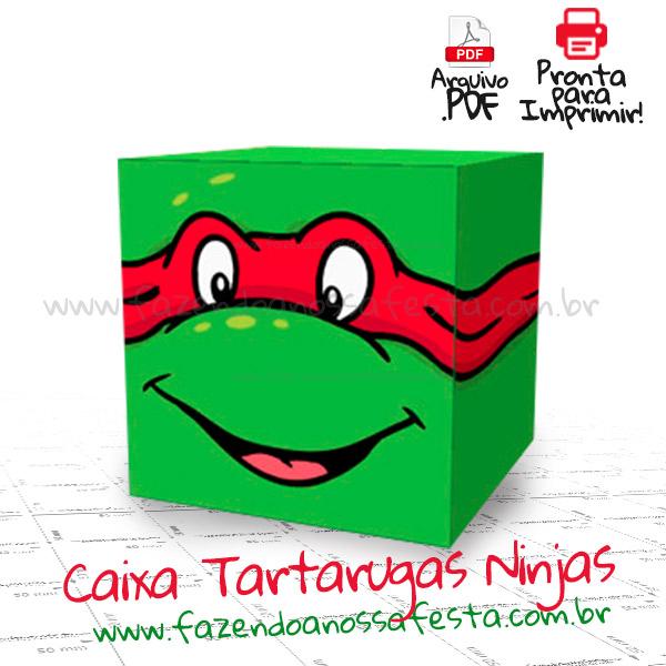 Caixa quadrada das tartarugas ninjas pronta para imprimir caixa quadrada das tartarugas ninjas modelo thecheapjerseys Image collections