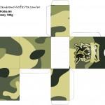 Caixa Tubetes Kit Militar Camuflado