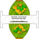 Caixa Vestido Dinossauro Cute