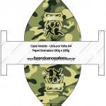 Caixa Vestido Kit Militar Camuflado