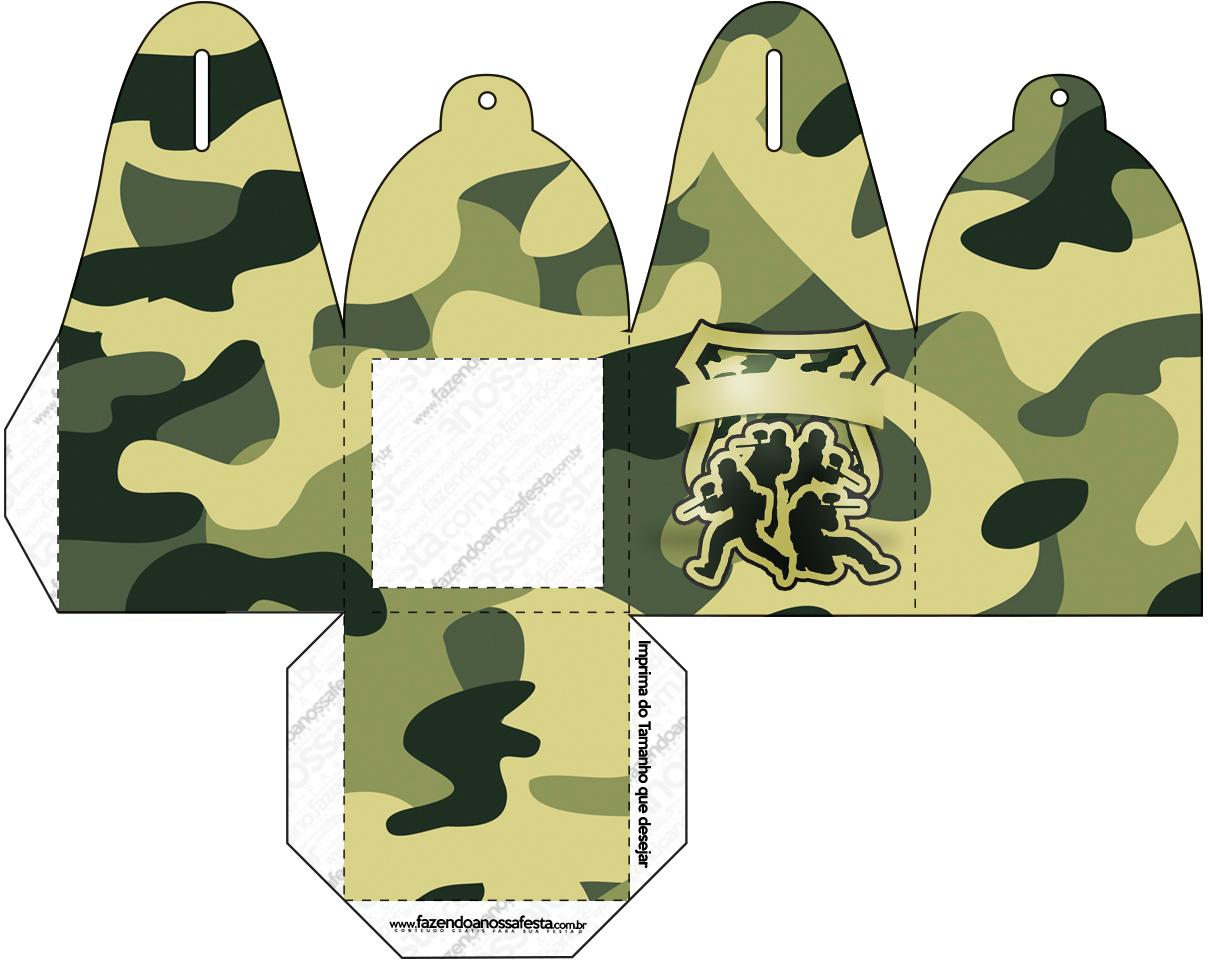 Caixa com Foto Kit Militar Camuflado