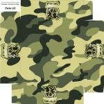 Caixa de Bombom Kit Militar Camuflado - Parte de baixo