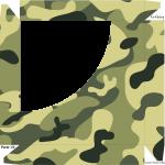 Caixa de Bombom Kit Militar Camuflado - Parte de cima