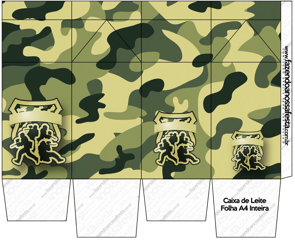 Caixa de Leite Kit Militar Camuflado