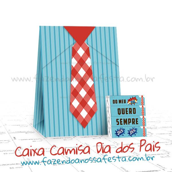 Caixinha Camisa Gravata - Lembrancinha Dia Dos Pais