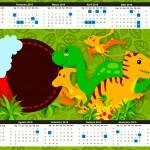 Calendário 2015 Dinossauro Cute