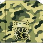 Envelope Convite Militar Camuflado