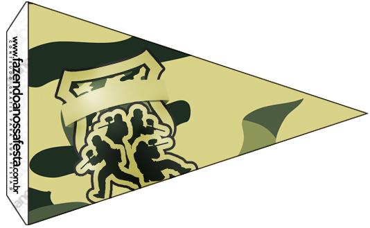 Bandeirinha Militar Camuflado