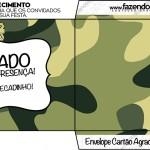 Envelope Cartão Agradecimento Militar Camuflado