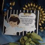Cartão Agradecimento da Presença Batizado do Davi Nicolini