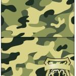 Cartão Agradecimento de Mesa Kit Militar Camuflado