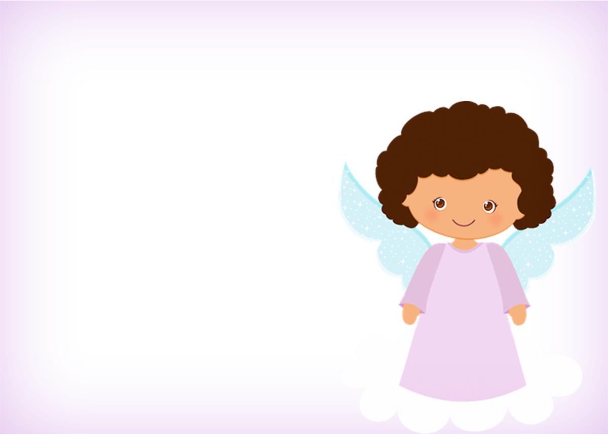 Cartão Batizado Anjinha Afro