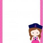 Cartão Menina Marinheira