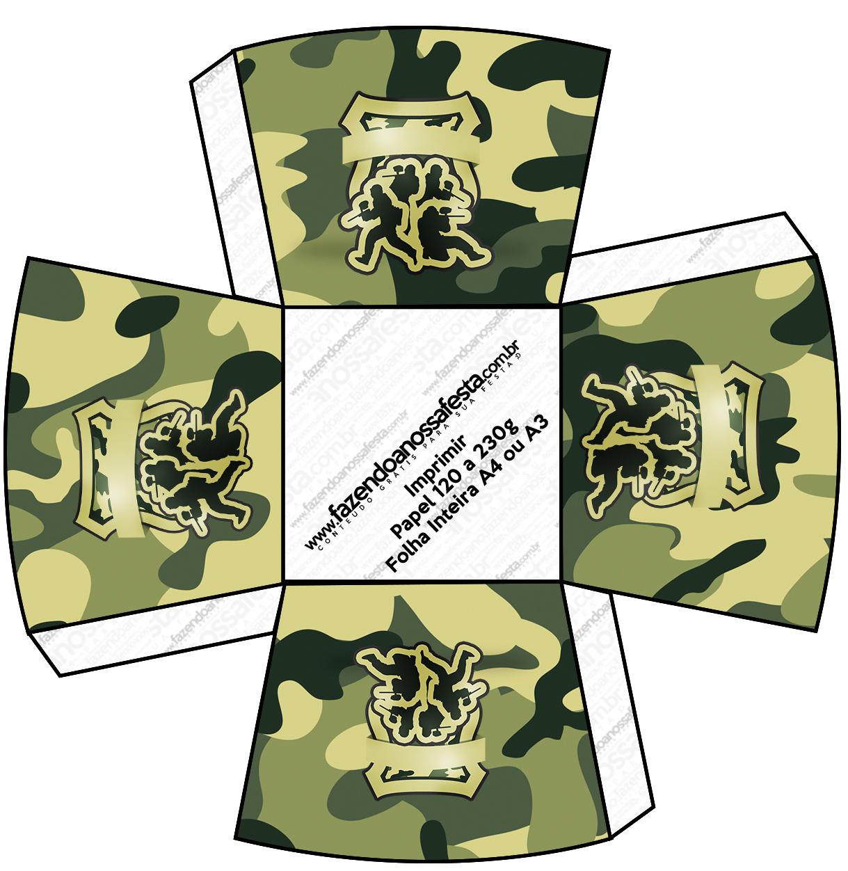 Chachepot Kit Militar Camuflado