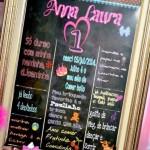 Chalkboard Festa Gatinha Marie Anna Laura