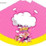 Chapéu de Festa Barbie Super Princesa Rosa