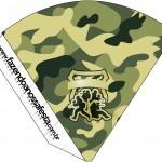 Cone Guloseimas Kit Militar Camuflado