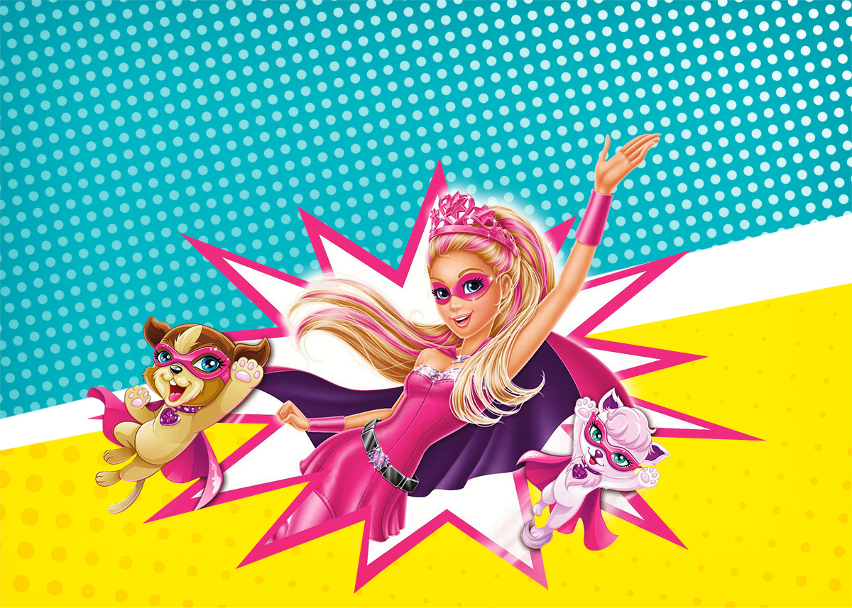 Convite Barbie Super Princesa