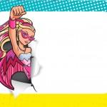 Convite Barbie em Super Princesa Rosa