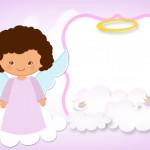 Convite Batizado Anjinha Afro