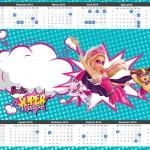 Convite Calendário 2015 2 Barbie Super Princesa