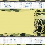 Convite Calendário 2015 2 Kit Militar Camuflado
