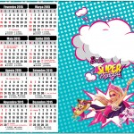 Convite Calendário 2015 Barbie Super Princesa