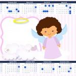 Convite Calendário 2015 Batizado Anjinha Afro