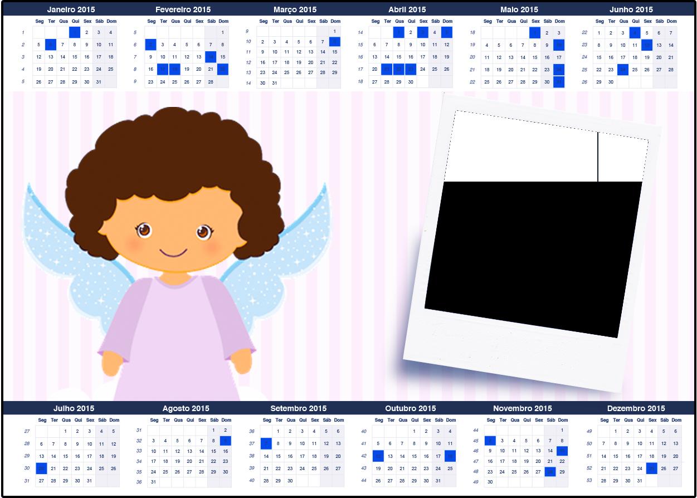 Convite Calendário 2015 Batizado Anjinha Afro 2