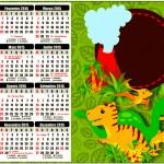 Convite Calendário 2015 Dinossauro Cute