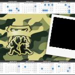 Convite Calendário 2015 Kit Militar Camuflado