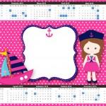 Convite Calendário 2015 Menina Marinheira 2