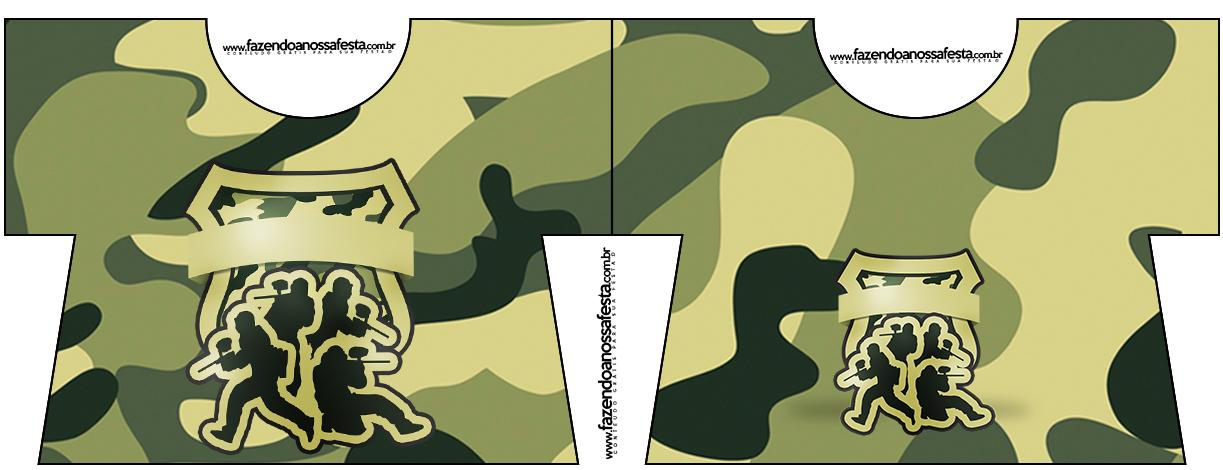 Convite Camisa Kit Militar Camuflado