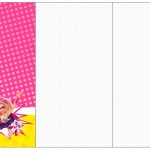 Convite, Cardápio ou Cronograma Barbie Super Princesa Rosa