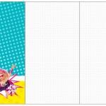 Convite, Cardápio ou Cronograma em Z Barbie Super Princesa