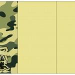 Convite, Cardápio ou Cronograma em Z Kit Militar Camuflado